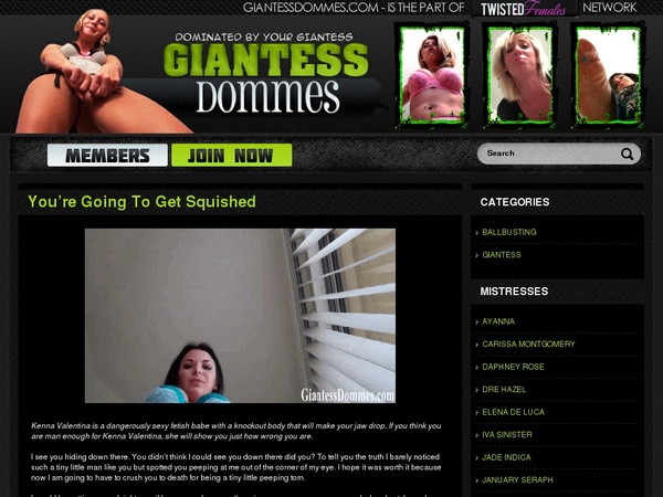 Free Giantess Dommes Account Login