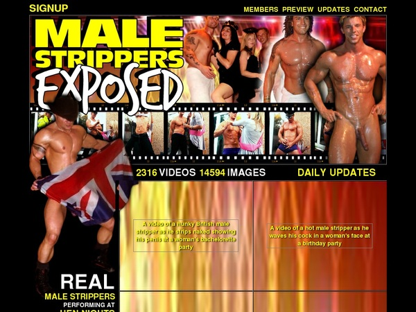 Male Strippers Exposed Check Out