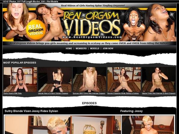 Realorgasmvideos.com Acount