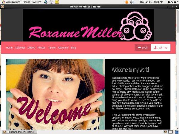 Login Roxanne Miller