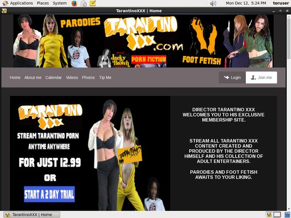 Tarantino XXX Free Account Password