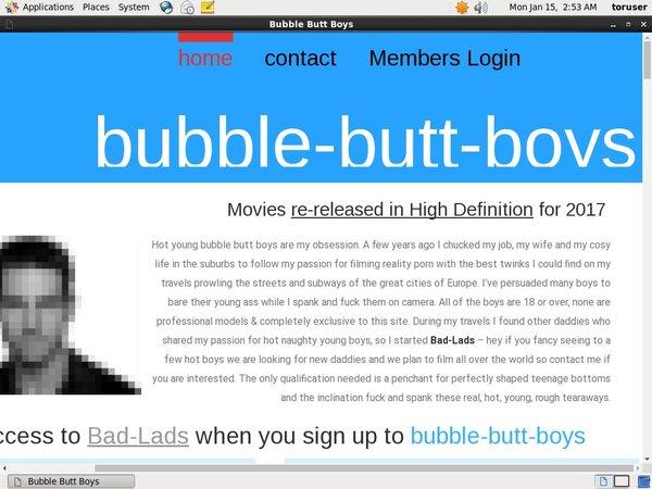 Bubble Butt Boys Wachtwoord