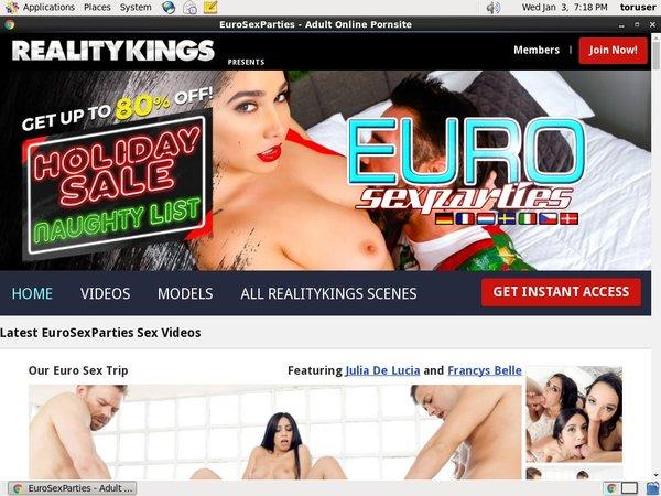 Euro Sex Parties Make Account