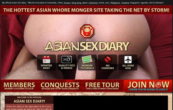 Free Asiansexdiary.com Acounts